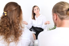 conflict-avoidant couple with therapist