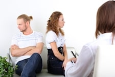 self-absorbed partner in therapy session