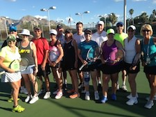 Pete and Ellyn at Tennis Camp