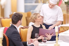 couple visiting luxury restaurant
